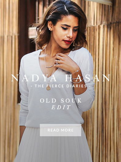 Nadya Hasan wearing Monica Vinader in the Old Souk
