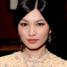 Gemma Chan in Monica Vinader Riva Diamond Earrings at the 2014 BAFTA TV Craft Awards