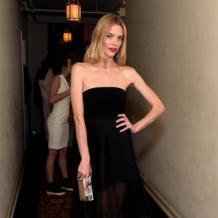Jaime King wears Monica Vinader Ava Diamond Disc Cocktail Ring to the Warner Music Group's annual Grammy Celebration.
