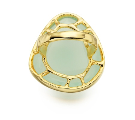 GP Siren Cocktail Ring  -  Aqua Chalcedony - Monica Vinader