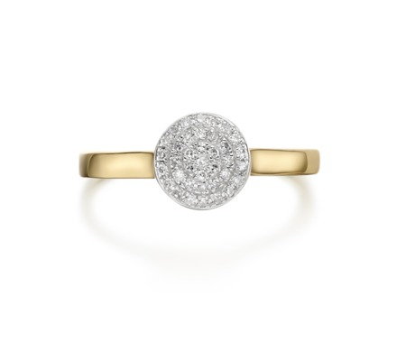 GP Pave Ring - Diamond - Monica Vinader