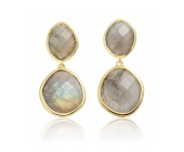 GP Medium Nugget Drop Earrings- Labradorite - Monica Vinader