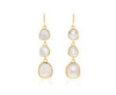 Gold Vermeil Siren Wire Cocktail Earrings - Moonstone - Monica Vinader