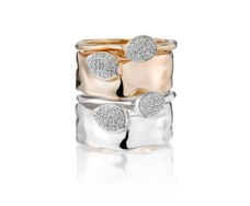 Siren Diamond Small Stacking Ring - Monica Vinader