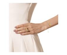 Gold Vermeil Riva Diamond Hoop Chain Bracelet - Monica Vinader