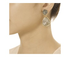 Gold Vermeil Siren Cocktail Earrings - Labradorite - Monica Vinader