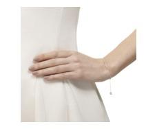 Skinny Short Bar Bracelet - Diamond - Monica Vinader