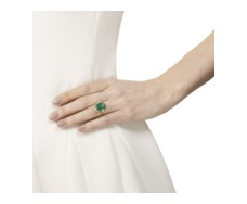 Gold Vermeil Siren Ring - Green Onyx - Monica Vinader