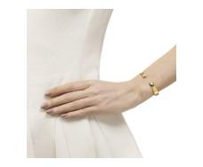 Gold Vermeil Siren Thin Cuff - White Topaz - Monica Vinader