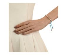 Rose Gold Vermeil Esencia Friendship Bracelet - Turquoise - Monica Vinader