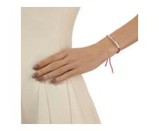 Esencia Friendship Bracelet - Pink Tourmaline - Cerise - Monica Vinader