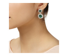 Esencia Diamond & Gemfields Emerald Small Cocktail Earrings - Monica Vinader