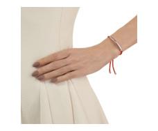 Rose Gold Vermeil Esencia Friendship Bracelet - Thai Ruby - Coral - Monica Vinader