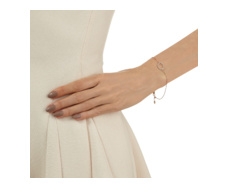 Rose Gold Vermeil Riva Diamond Hoop Chain Bracelet - Monica Vinader