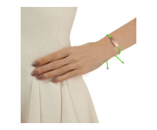 Rose Gold Vermeil Bali Friendship Bracelet - Yellow Fluro - Monica Vinader