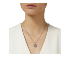 Rose Gold Vermeil Atlantis Gem Pendant - Grey Agate - Monica Vinader