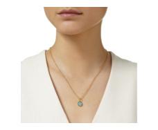 Gold Vermeil Atlantis Gem Mini Pendant - Turquoise - Monica Vinader