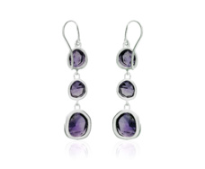 Siren Wire Cocktail Earrings - Amethyst - Monica Vinader