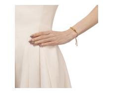 Gold VermeilEsencia Friendship Bracelet - White Topaz - Nude - Monica Vinader