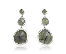 Siren Small Cocktail Earrings - Labradorite  - Monica Vinader
