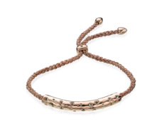 Rose Gold Vermeil Esencia Scatter Friendship Bracelet - White Topaz - Rose Metallica - Monica Vinader