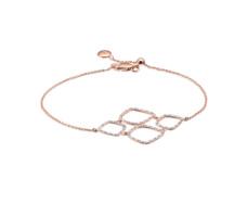 Rose Gold Vermeil Riva Diamond Cluster Bracelet - Monica Vinader