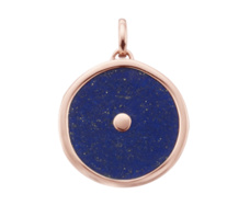 Rose Gold Vermeil Atlantis Eye Pendant - Lapis - Monica Vinader