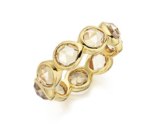 Gold Vermeil Siren Eternity Ring Large - Citrine - Monica Vinader