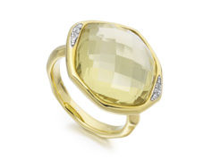 Gold Vermeil Riva Diamond Cocktail Ring - Monica Vinader