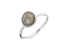 Siren Stacking Ring - Labradorite  - Monica Vinader