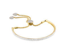 Gold Vermeil Full Pave Bracelet - Diamond - Monica Vinader