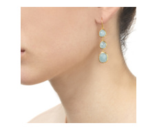 Gold Vermeil Siren Wire Cocktail Earrings - Aquamarine - Monica Vinader