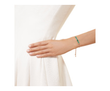 Rose Gold Vermeil Baja Precious Bracelet - Emerald & Diamond