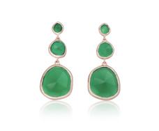 RP Siren Small Cocktail Earrings - Green Onyx - Monica Vinader