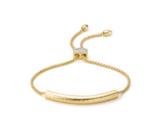 Gold Vermeil Esencia Diamond Toggle Bracelet - Monica Vinader
