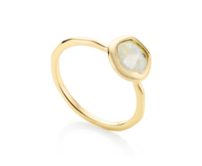 Gold Vermeil Riva Stacking Ring - Moonstone - Monica Vinader