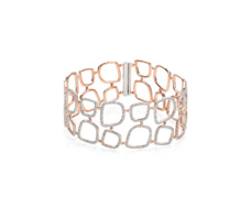 Rose Gold Vermeil Riva Diamond Cluster Cuff - Monica Vinader