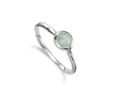 Siren Small Stacking Ring - Aquamarine
