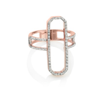 Rose Gold Vermeil Diva Cocktail Ring - Diamonds