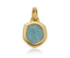 Gold Vermeil Atlantis Gem Mini Pendant - Amazonite