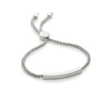 Linear Friendship Bracelet - Silver Metallica Cord