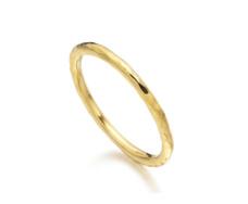 Gold Vermeil Hammered Ring - Monica Vinader