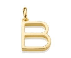 Gold Vermeil Alphabet Pendant B