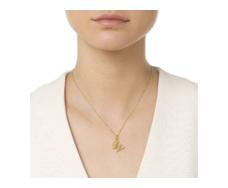 Gold Vermeil Alphabet Pendant W Model