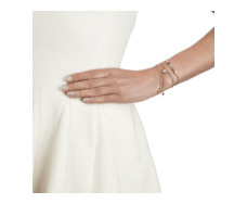 Rose Gold Vermeil Linear Diamond Toggle Chain Bracelet Model