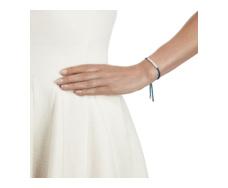 Linear Friendship Bracelet - Mallard Blue Cord model