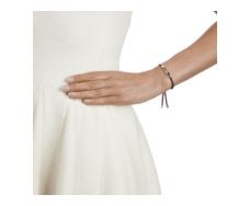 Linear Friendship Bracelet - Dark Wine Cord model