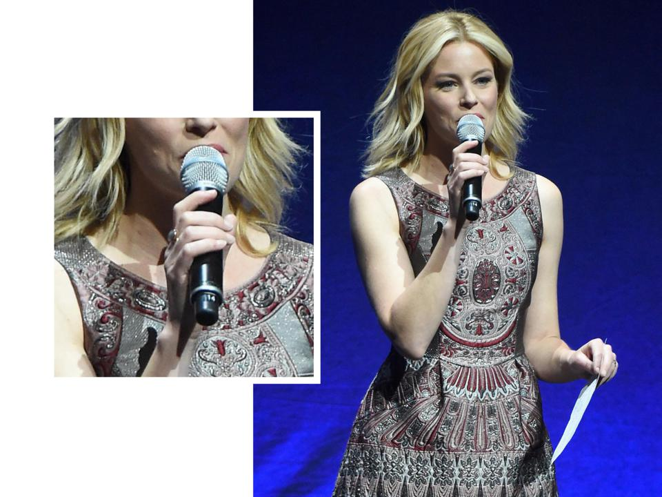 Elizabeth Banks at CinemaCon wearing Monica Vinader