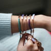 Rose Gold Vermeil Linear Stone Bracelet - Blue Lace Agate - Monica Vinader
