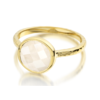 Gold Vermeil Mini Luna Ring - Moonstone - Monica Vinader